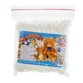 Ватные палочки «Teddyland» в пакетике «зип-лок», 100 шт Ош