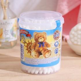 Ватные палочки «Teddyland» в круглой баночке, 100 шт Ош