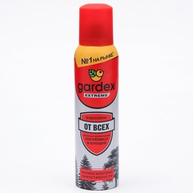 Аэрозоль от всех летающих кровососущих насекомых и клещей Gardex Extreme, ПРОМО +10%, 165 мл