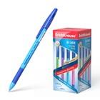 Ручка шариковая Erich Krause R-301 Neon Stick&Grip, узел 0.7мм, чернила синие, резиновый упор, длина линии письма 1000м, микс