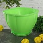 Кашпо с поддоном 1 л Gloria, цвет зеленый