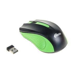 Компьютерная мышь RITMIX RMW-555, беспроводная, USB, 1000 dpi, зеленая