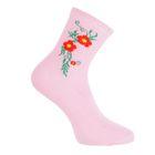 Носки женские, размер 23-25, цвет светло-розовый