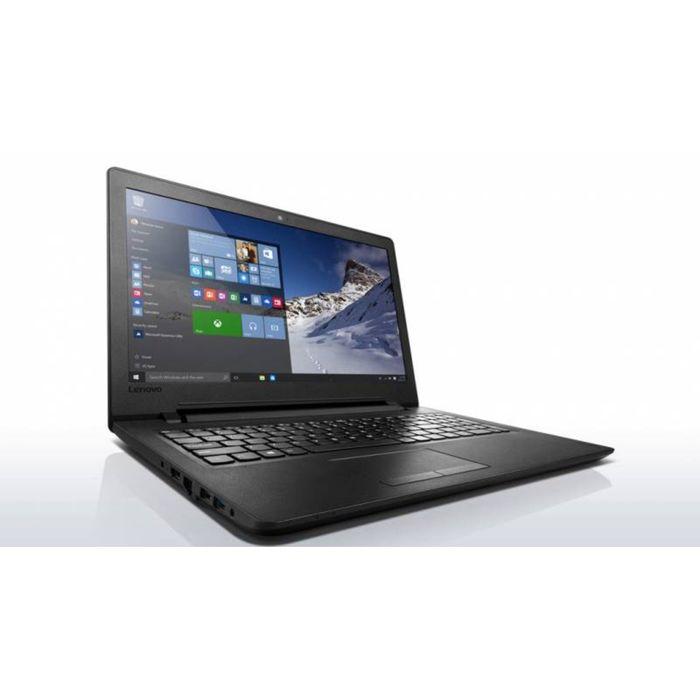 Ноутбук Lenovo IdeaPad 110-15ACL E1 7010,4Gb,500Gb,DVD-RW, 15.6,HD 1366x768,Win 10,черный