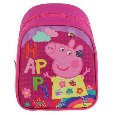 """Рюкзачок детский Свинка Пеппа 23*19*8 дев """"Счастье"""" фиолетовый 32040"""