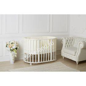Детская кроватка-трансформер Incanto Mimi 7 в 1, круглая/овальная, белая
