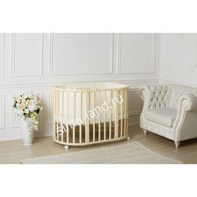 Детская кроватка-трансформер Incanto Mimi 7 в 1, круглая/овальная, слоновая кость
