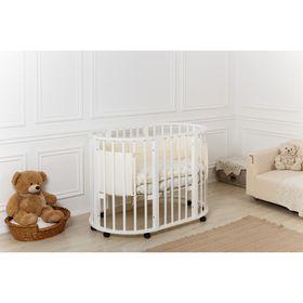 Детская кроватка-трансформер Incanto Gio 5 в 1, круглая/овальная, белая