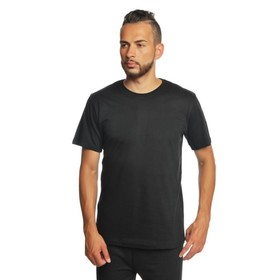 Футболка однотонная мужская цвет чёрный, р-р S