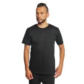 Футболка однотонная мужская цвет чёрный, р-р M
