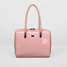 Сумка женская на молнии, 1 отдел с перегородкой, наружный карман, цвет розовый