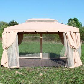 Беседка-шатер с москитной сеткой  3*4м Ош