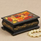 Шкатулка «Пионы», 6х9 см, лаковая миниатюра