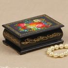 Шкатулка «Пионы с лесными цветами», 6х9 см, лаковая миниатюра