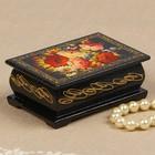 Шкатулка «Цветочная роспись», 6х9 см, лаковая миниатюра