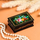 Шкатулка «Цветы», 6х9 см, лаковая миниатюра