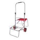 Тележка багажная, двухколёсная, со стульчиком, до 75 кг
