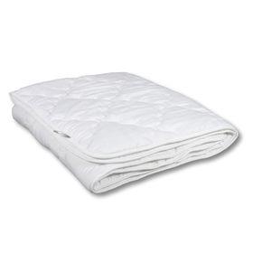 Одеяло Миродель Эконом легкое, синтетическое 140х205 см, 150гр/м, микрофибра белая Ош