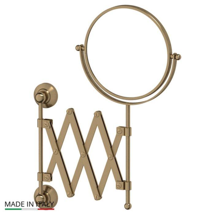 Косметическое зеркало двустороннее x2, античная бронза, 3SC