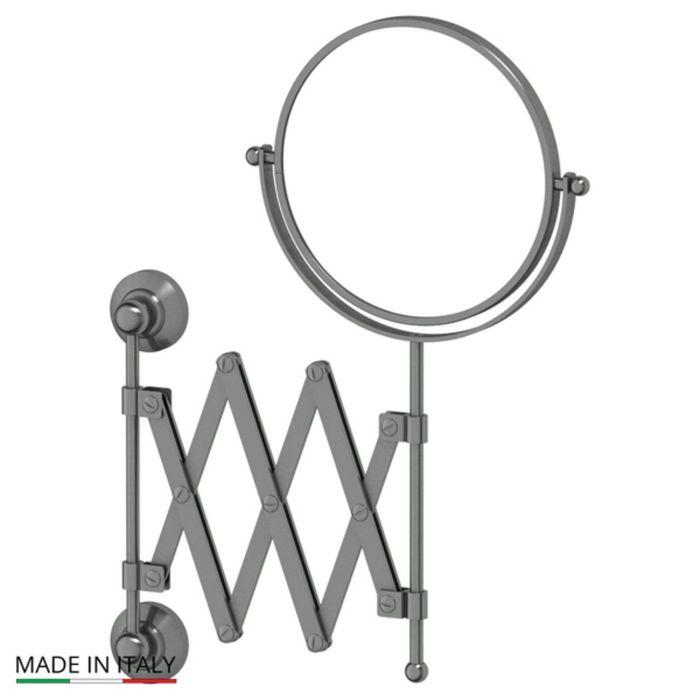 Косметическое зеркало двустороннее x2, античное серебро, 3SC