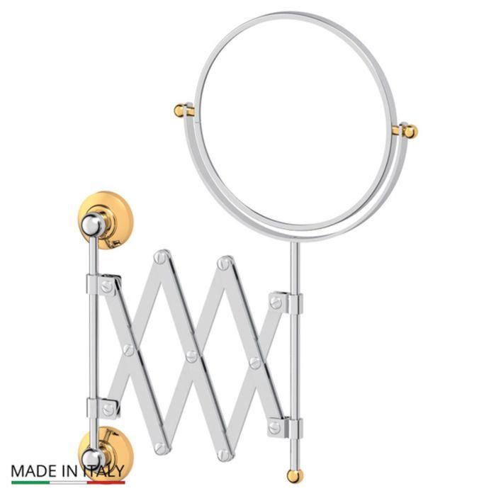 Косметическое зеркало двустороннее x2, хром, золото, 3SC