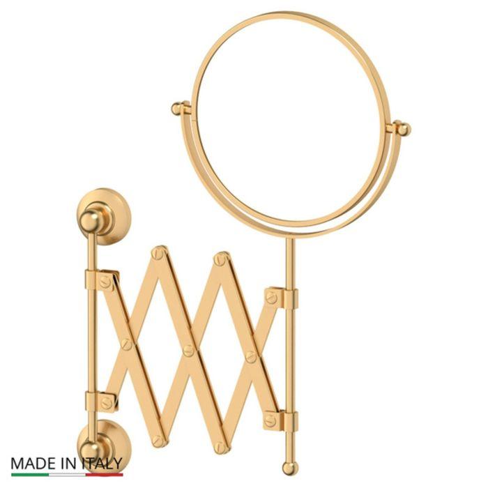 Косметическое зеркало двустороннее x2, матовое золото, 3SC