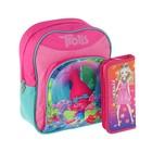 Рюкзачок детский Trolls Mini Baсkpack + пенал узкий на молнии Limpopo Super Model, 1 отделение (подарок)