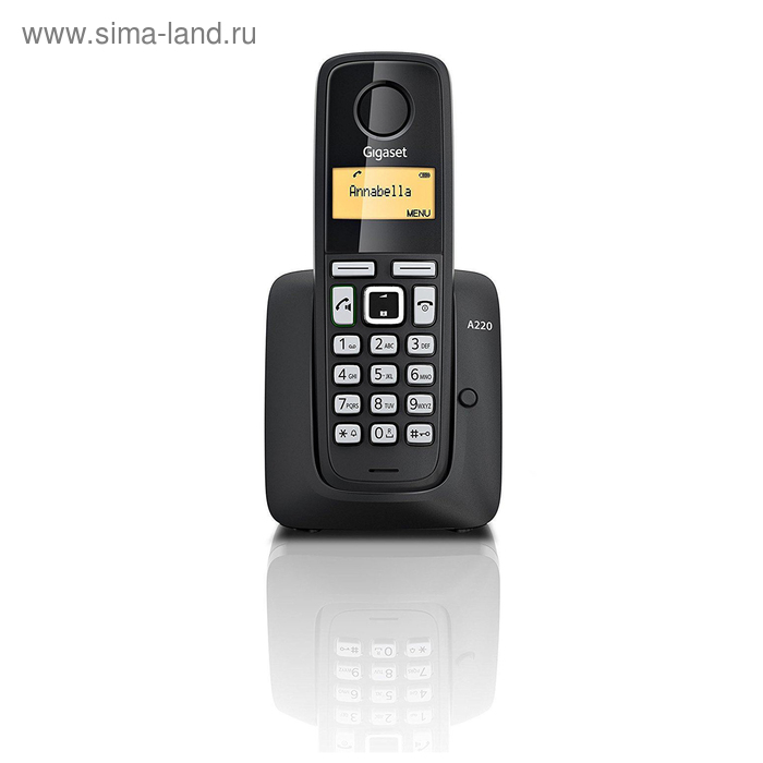 Радиотелефон Dect Gigaset A220A чёрный, автооветчик, АОН GIGASET