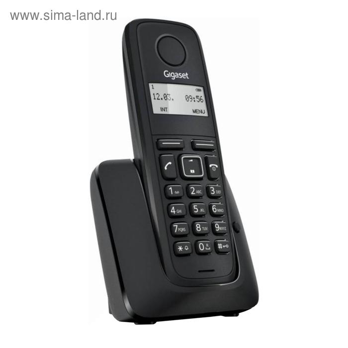 Радиотелефон Dect Gigaset A116 чёрный, АОН GIGASET