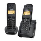 Радиотелефон Dect Gigaset A120 Duo чёрный, АОН