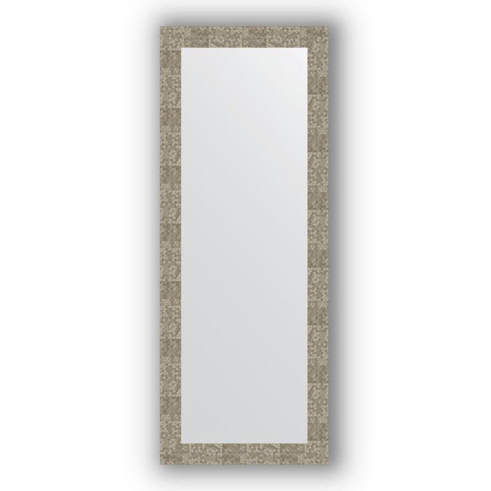 Зеркало в багетной раме - соты титан 70 мм, 56 х 146 см, Evoform