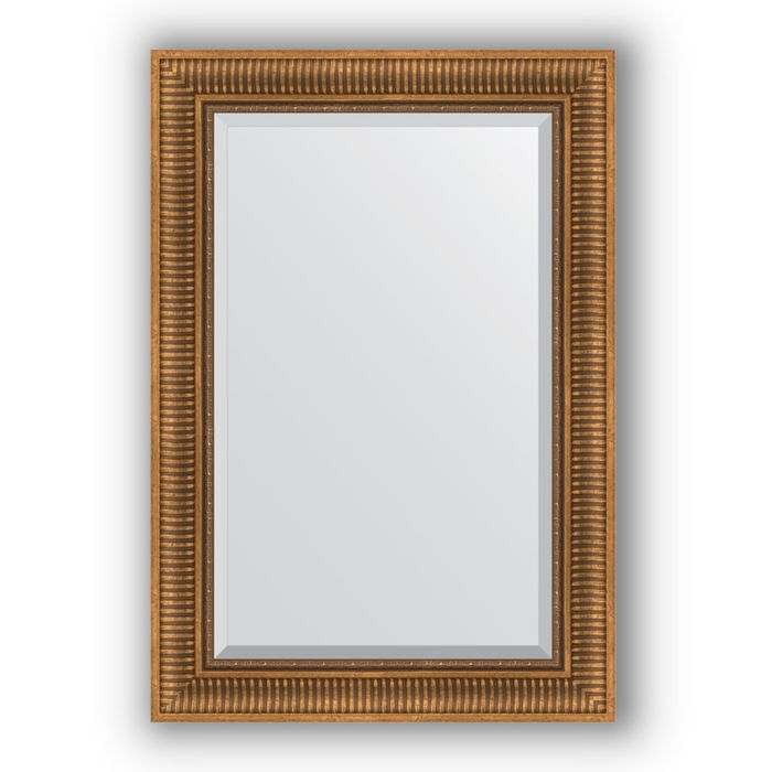 Зеркало с фацетом в багетной раме - бронзовый акведук 93 мм, 67 х 97 см, Evoform