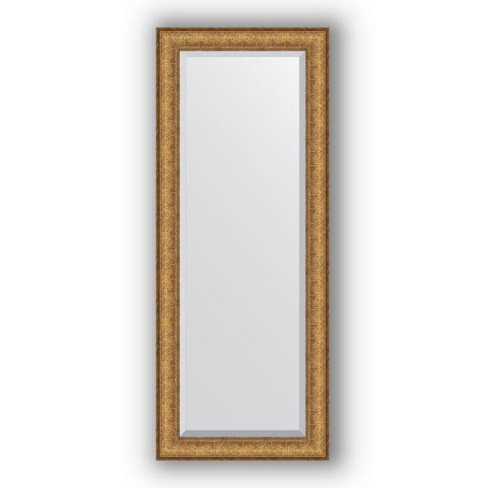 Зеркало с фацетом в багетной раме - медный эльдорадо 73 мм, 54 х 134 см, Evoform