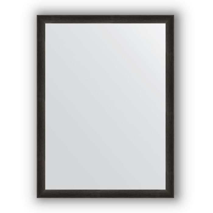 Зеркало в багетной раме - черный дуб 37 мм, 60 х 80 см, Evoform