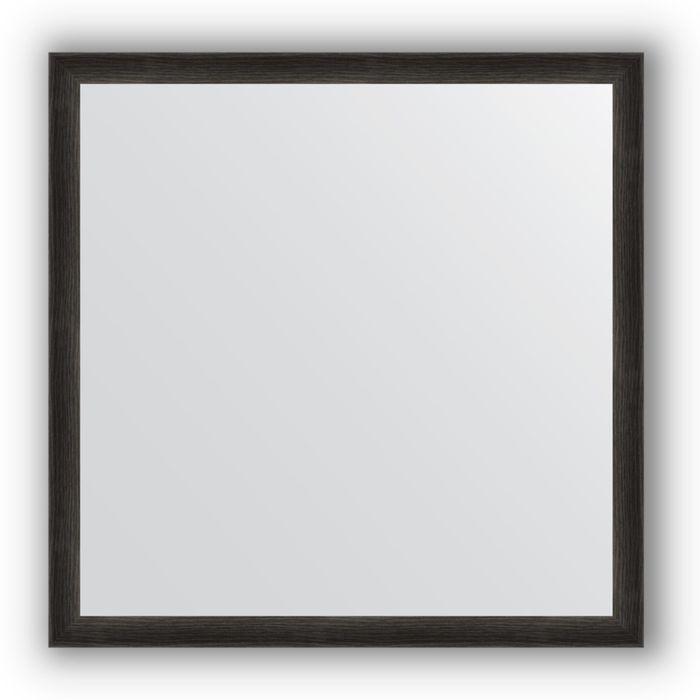 Зеркало в багетной раме - черный дуб 37 мм, 70 х 70 см, Evoform
