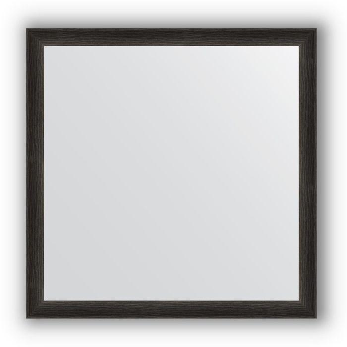 Зеркало в багетной раме - черный дуб 37 мм, 60 х 60 см, Evoform