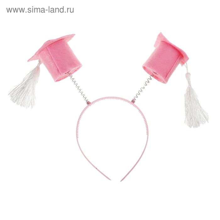 """Карнавальный ободок """"Бакалавр"""", цвет розовый"""