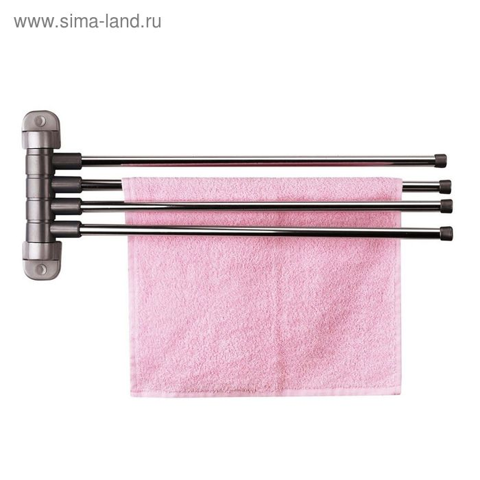 Вешалка для полотенец, 4 спицы, цвет серый