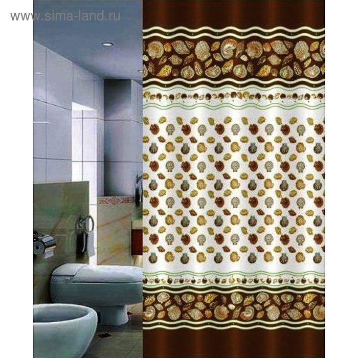 Штора для ванной 180х200 Istridye, цвет бежевый
