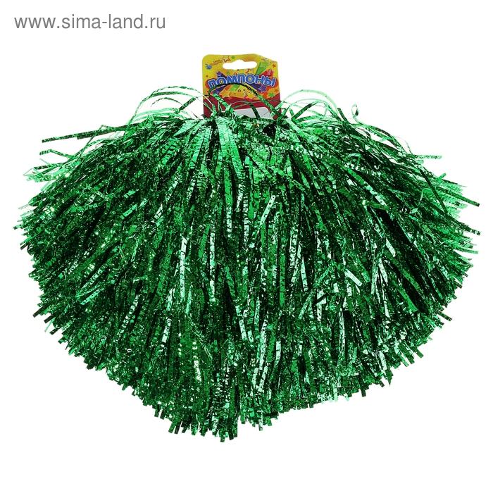 Карнавальный помпон, одевается на пальцы, цвет изумрудный