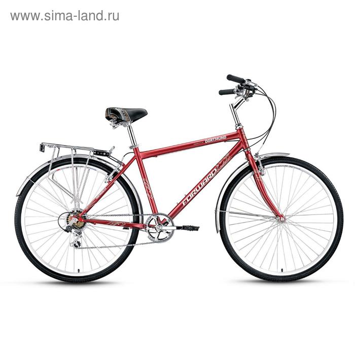 """Велосипед 28"""" Forward Dortmund 2.0, 2017, цвет бордовый, размер 19"""""""