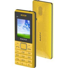 Сотовый телефон Maxvi C9, желтый