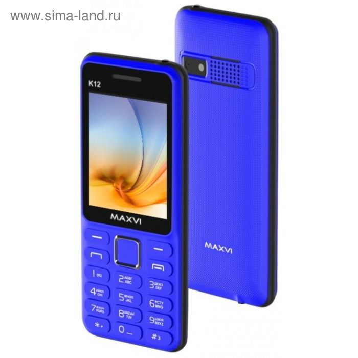 Сотовый телефон Maxvi K12, синий