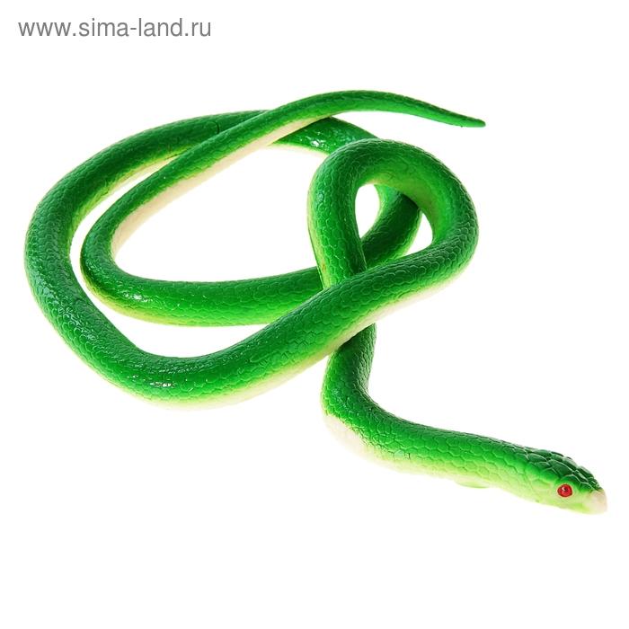 """Прикол """"Змея резиновая"""", цвет зеленый"""
