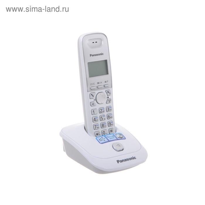 Радиотелефон Dect Panasonic KX-TG2511RUW белый, АОН Panasonic