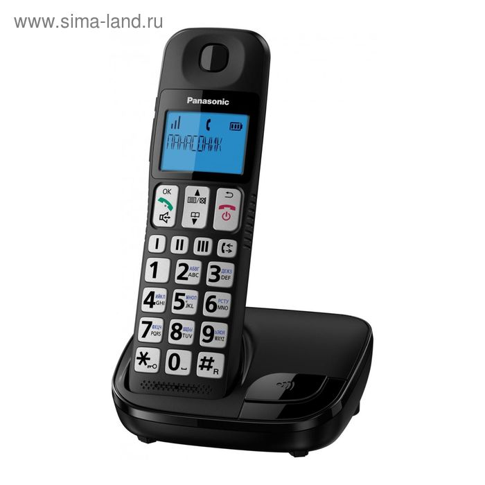 Радиотелефон Dect Panasonic KX-TGE110RUB чёрный, АОН Panasonic