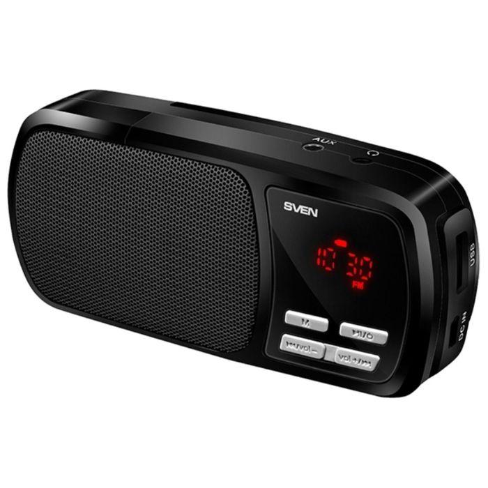 Портативная колонка Sven PS-50, 3Вт, MP3, FM, Li-Ion 800 mAh, черная