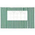 Стенка для шатра с окнами 2х3 м, полиэстер, зелёная