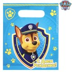 """Щенячий патруль. Пакет подарочный полиэтиленовый Paw Patrol """"С днем рождения!"""", 17х20 см"""