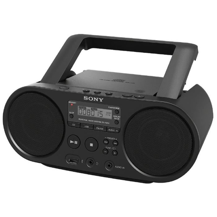 Аудиомагнитола Sony ZS-PS50 черная 4Вт/CD/CDRW/MP3/FM(dig)/USB